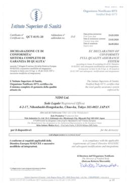 CE certificate NIDO QCT015120